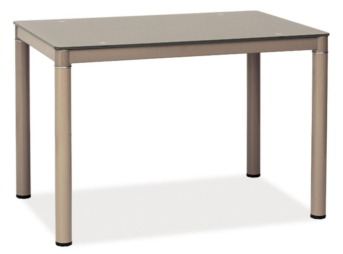 Jedálenský stôl GALANT tmavě béžový