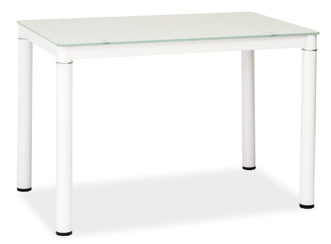 Jedálenský stôl GALANT biely