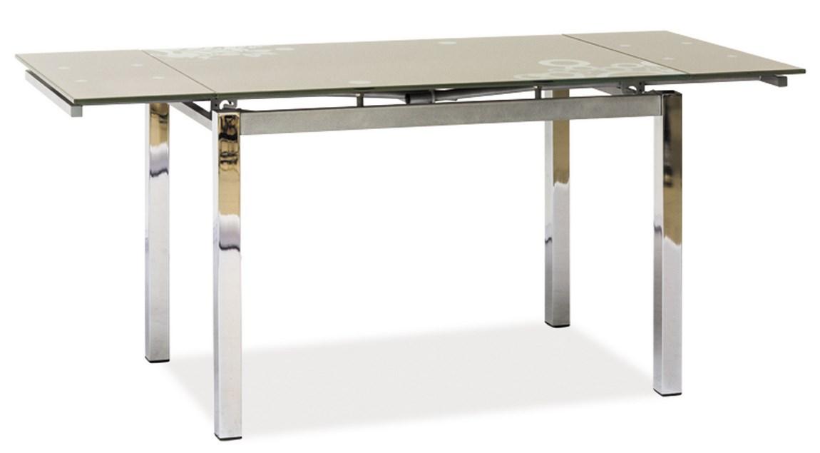 Jedálenský stôl GD-017 rozkladací tmavý béž