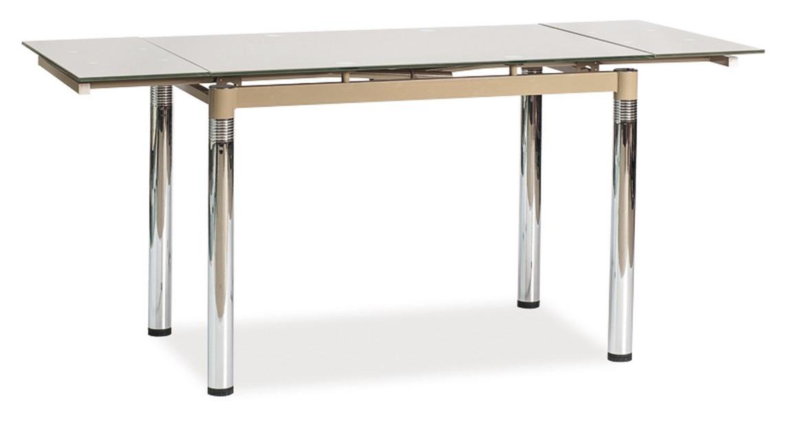 Jedálenský stôl GD-018 rozkladací tm. béžový
