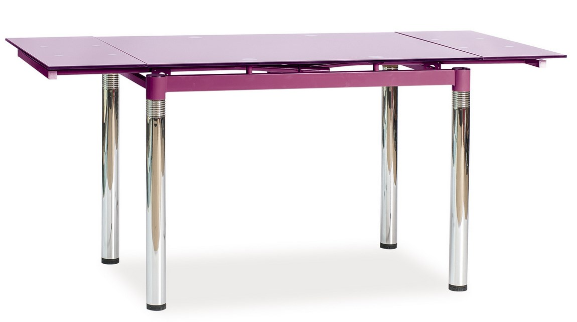 Jedálenský stôl GD-018 rozkladací fialový