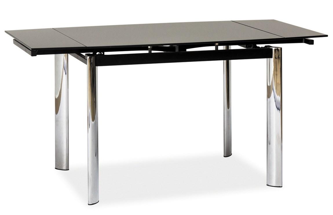 Jedálenský stôl GD-019 rozkladací čierny