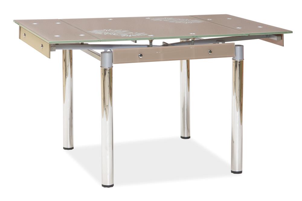 Jedálenský stôl GD-082 rozkladací tm. béžový