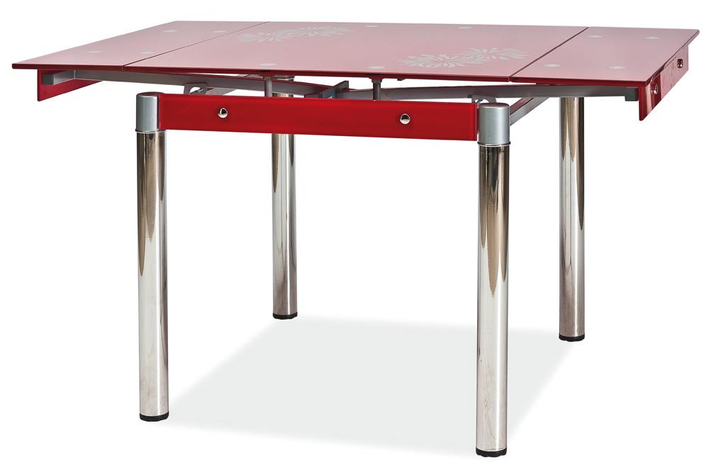 Jedálenský stôl GD-082 rozkladací červený