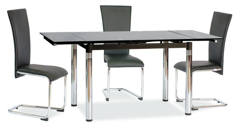 Jedálenský stôl GD-018 rozkladací čierny
