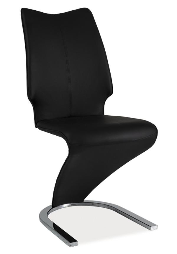 **Jídelní čalouněná židle H-050 černá