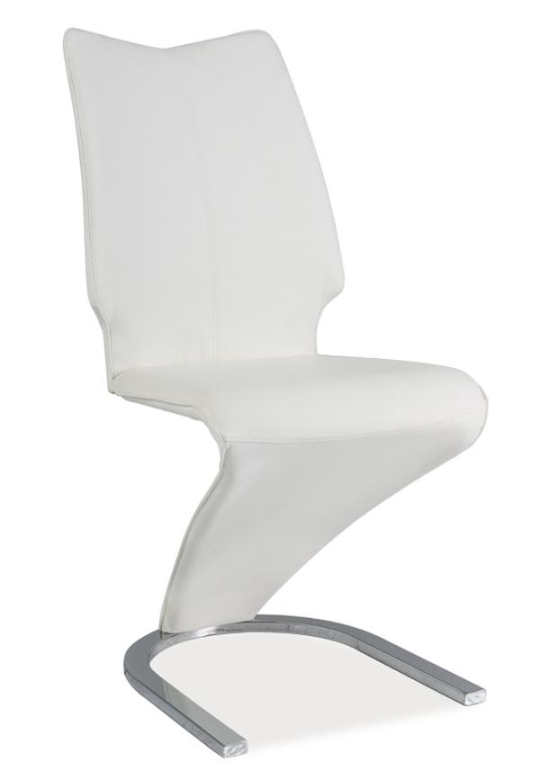 Jedálenská čalúnená stolička H-050 biela
