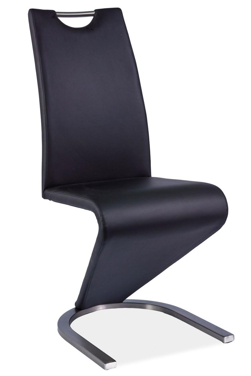 Jídelní čalouněná židle H-090 černá/ocel