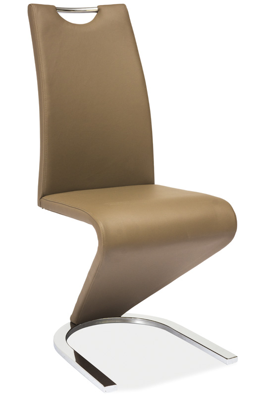 Jídelní čalouněná židle H-090 cappuccino/chrom