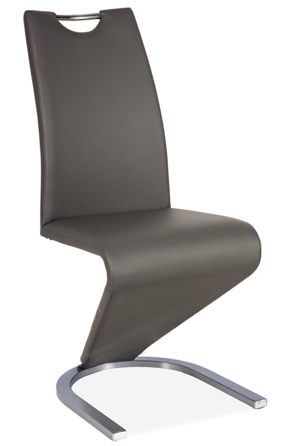 Jedálenská čalúnená stolička H-090 šedá/ocel