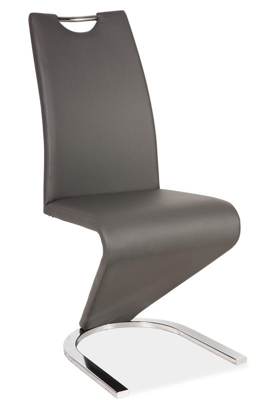 Jedálenská čalúnená stolička H-090 šedá