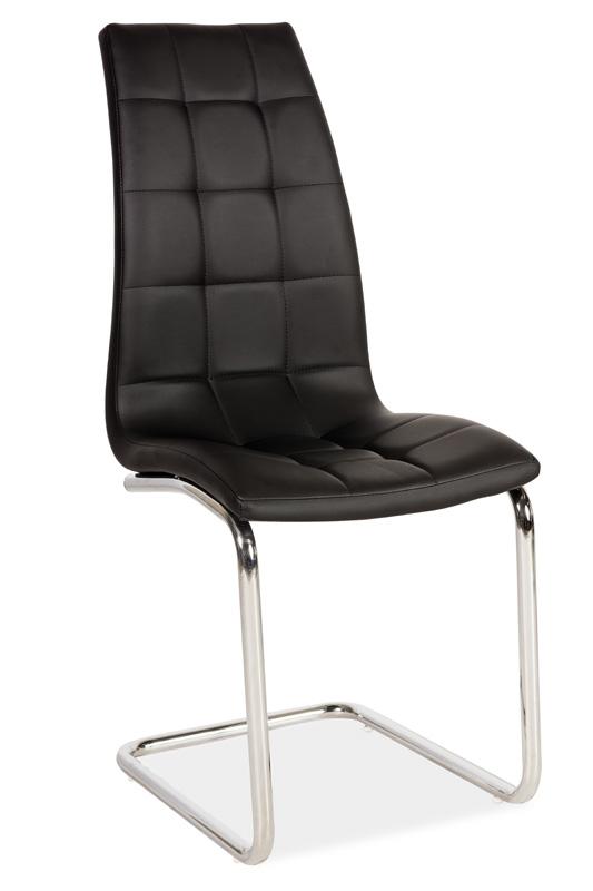 Jedálenská čalúnená stolička H-103 čierna