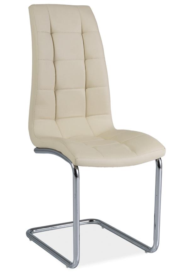 Jedálenská čalúnená stolička H-103 krémová