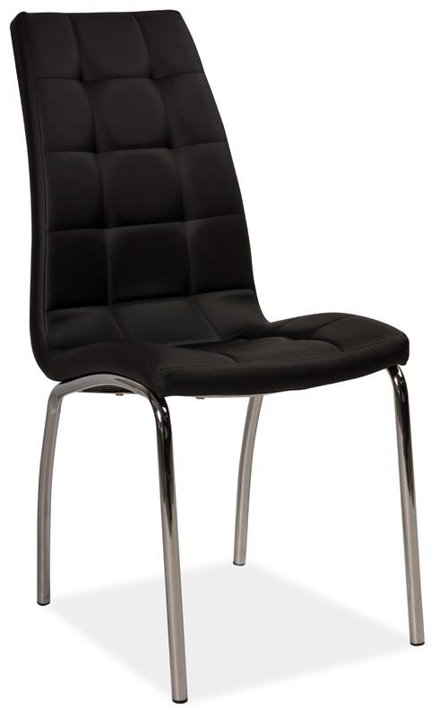 Jedálenská čalúnená stolička H-104 čierna