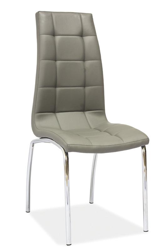 **Jídelní čalouněná židle H-104 šedá
