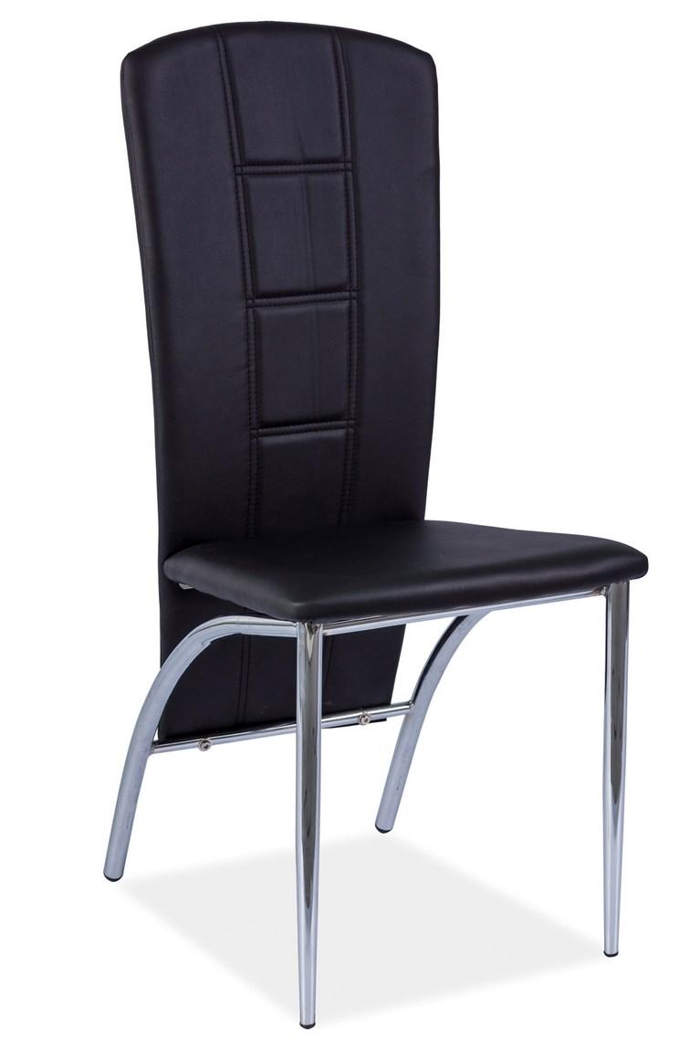 Jedálenská čalúnená stolička H-120 čierna
