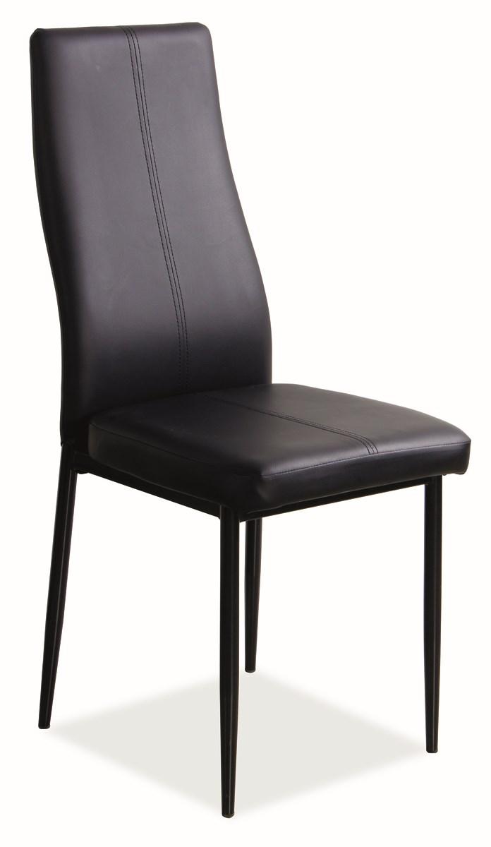 Jedálenská čalúnená stolička H-145 čierna
