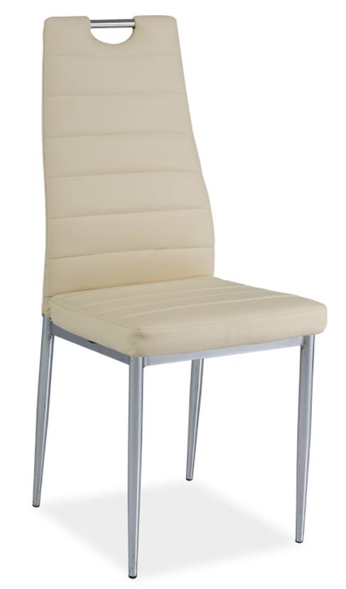 Jedálenská čalúnená stolička H-260 krémová/chrom