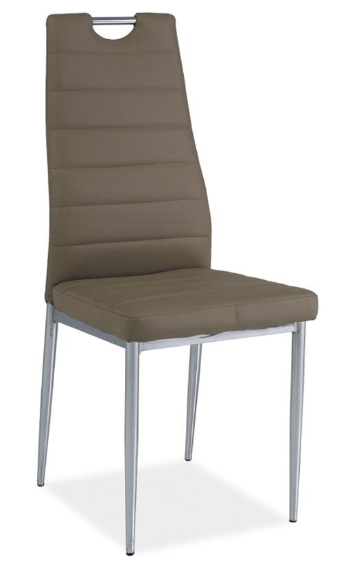 Jedálenská čalúnená stolička H-260 tmavo bežová/chrom