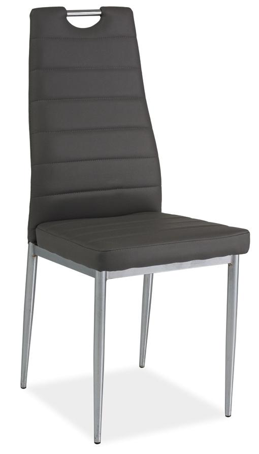 Jedálenská čalúnená stolička H-260 šedá/chrom
