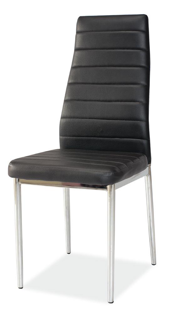 Jedálenská čalúnená stolička H-261 čierna