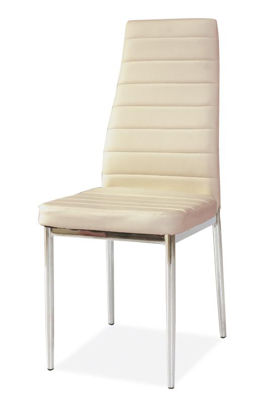 Jedálenská čalúnená stolička H-261 krémová