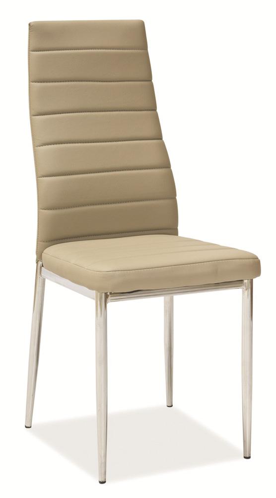 Jedálenská čalúnená stolička H-261 tm. béžová