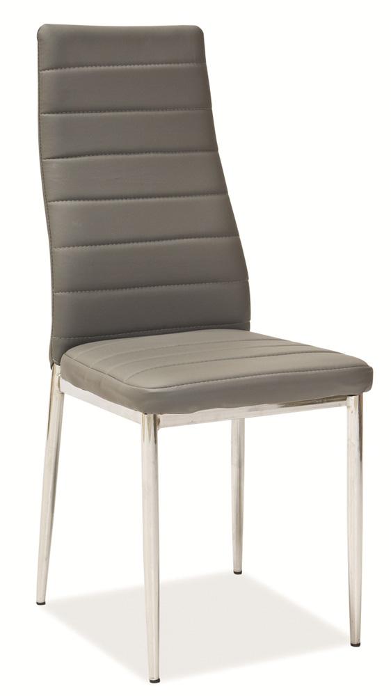 Jedálenská čalúnená stolička H-261 šedá