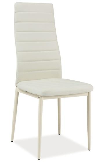 Jedálenská čalúnená stolička H-261 Bis krém/krém
