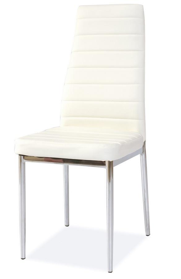**Jídelní čalouněná židle H-261 bílá