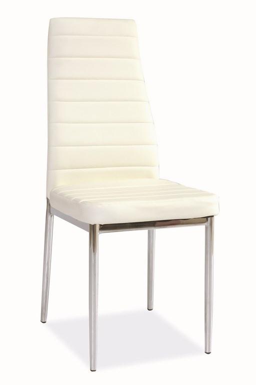 Jedálenská čalúnená stolička H-261 biela