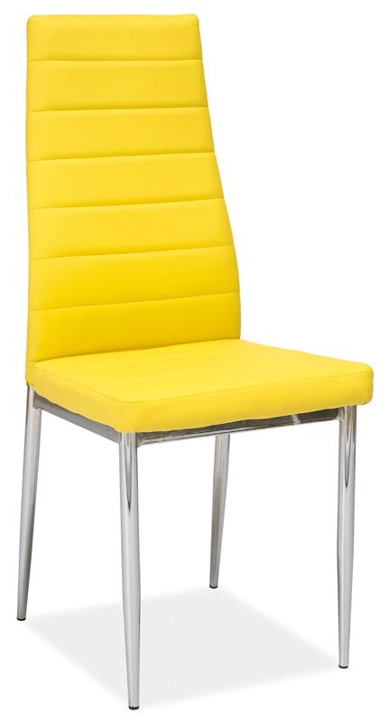 Jedálenská čalúnená stolička H-261 žltá