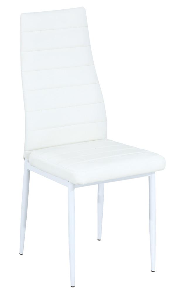 Jedálenská čalúnená stolička H-261B biela