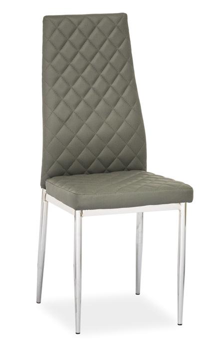 Jídelní čalouněná židle H-262 šedá