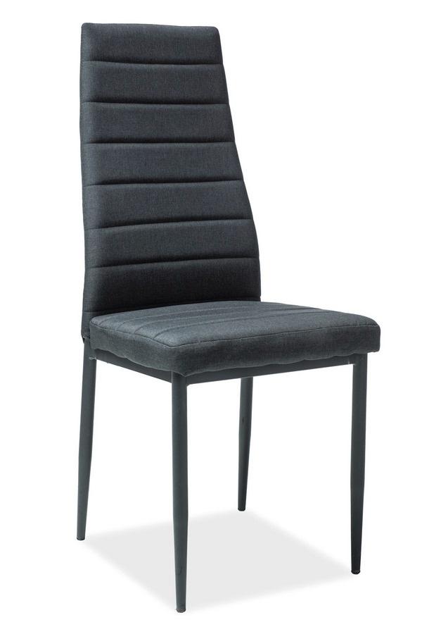 Jedálenská čalúnená stolička H-265 čierna