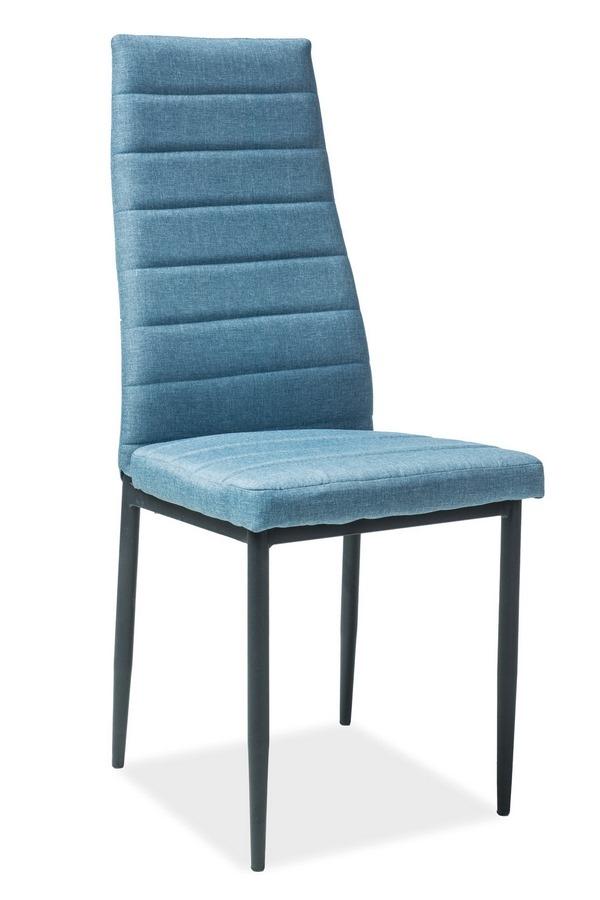 Jedálenská čalúnená stolička H-265 modrá