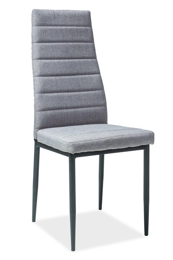 Jedálenská čalúnená stolička H-265 šedá