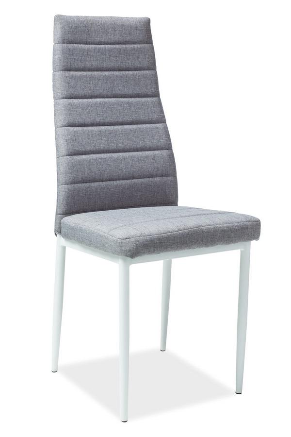 Jedálenská čalúnená stolička H-266 šedá