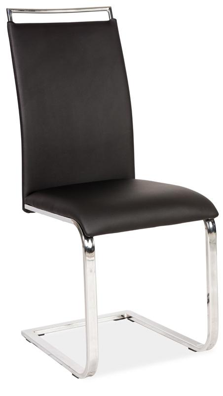 Jedálenská čalúnená stolička H-334 čierna