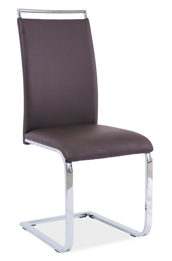 Jedálenská čalúnená stolička H-334 hnedá
