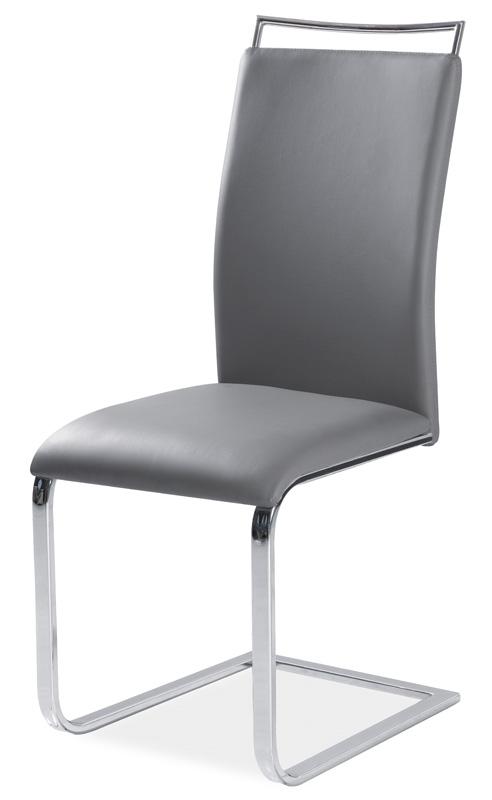 Jedálenská čalúnená stolička H-334 šedá
