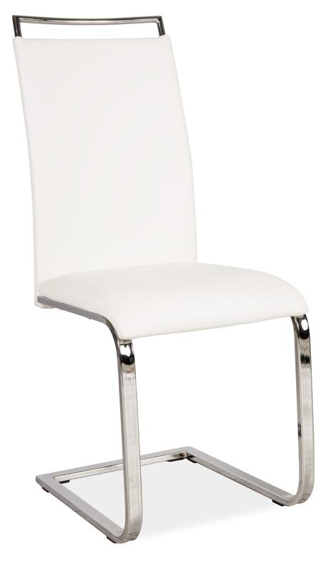 Jedálenská čalúnená stolička H-334 biela