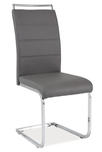 Jedálenská čalúnená stolička H-441 šedá