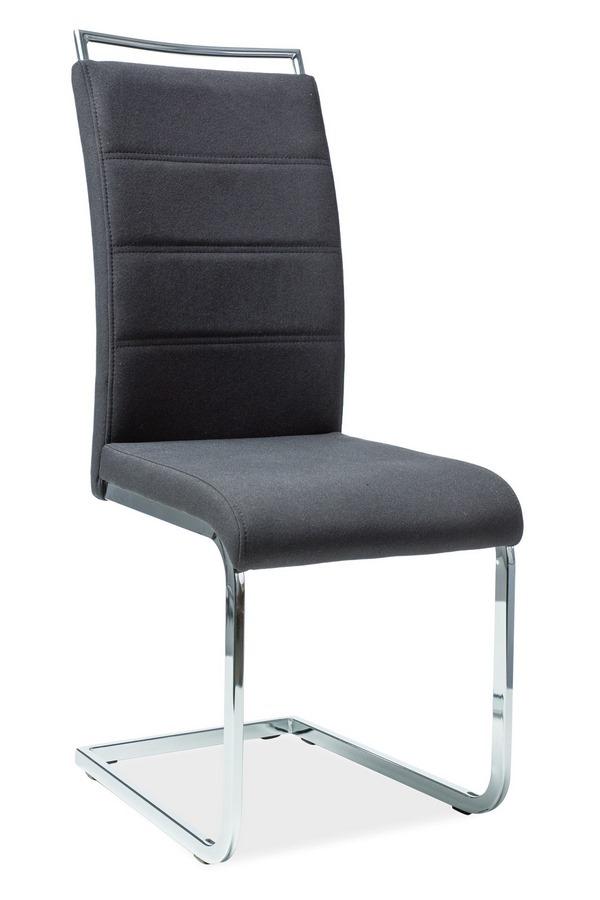 Jedálenská čalúnená stolička H-441 čierna látka