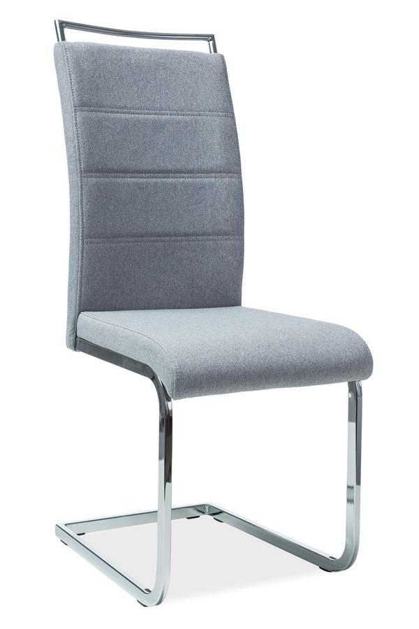 Jedálenská čalúnená stolička H-441 šedá látka