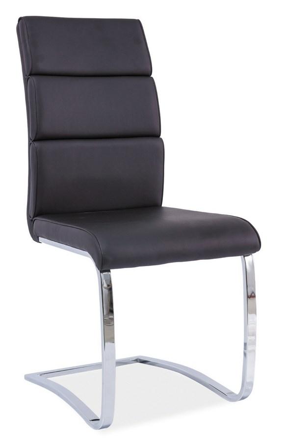 Jedálenská čalúnená stolička H-456 čierna