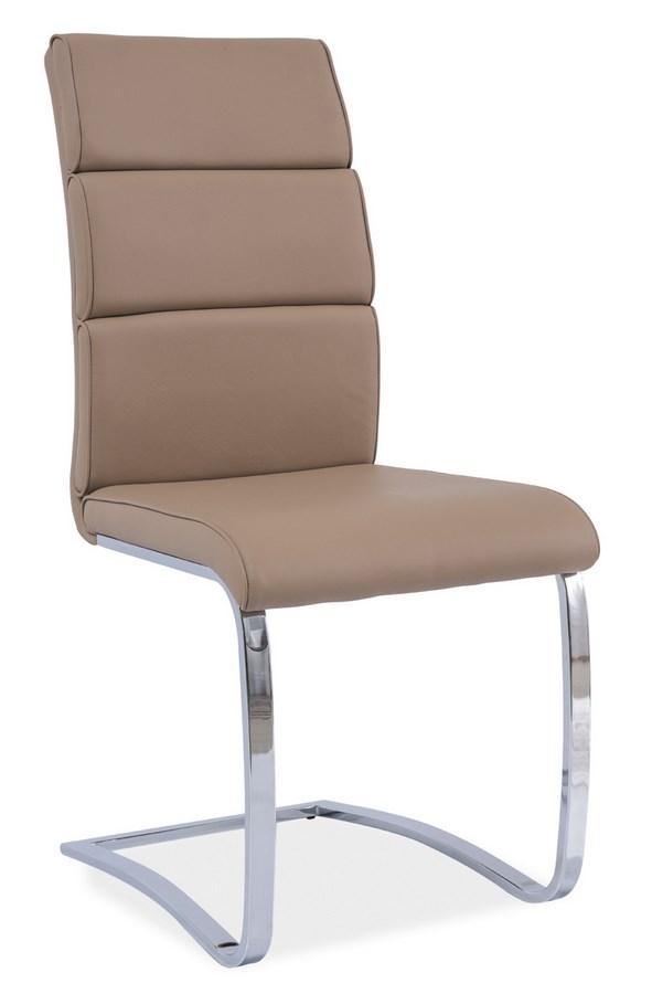 Jedálenská čalúnená stolička H-456 tmavo bežová