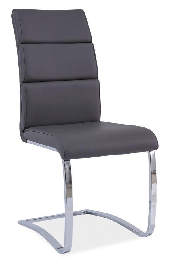 Jedálenská čalúnená stolička H-456 šedá