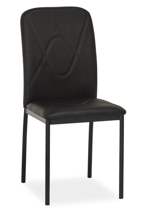 Jedálenská čalúnená stolička H-623 čierna
