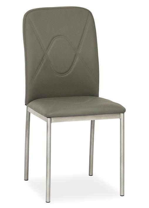 Jedálenská čalúnená stolička H-623 šedá